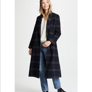 Vince Shadow Plaid Coat